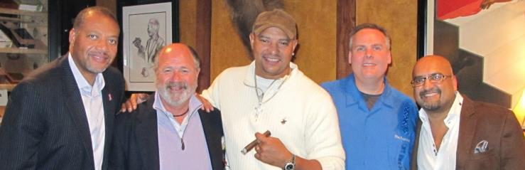 Drew Givens, Will, WB, John Ost, and Nish Patel Cigar Event