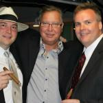 "Johnny Kovar, Ron ""Jaws"" Jaworski, and John Ost at the Jaws Cigar Charity Event!"
